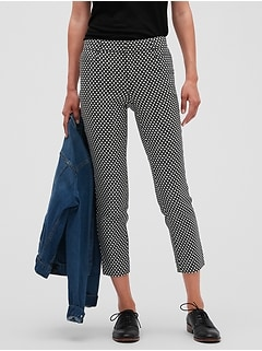 Sloan Diamond Jacquard Stretch Slim Crop Pant