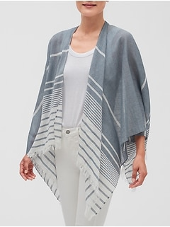 Stripe Cotton Voile Wrap