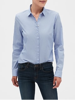 Pleat Trim Tailored Shirt