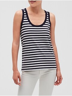 Stripe Terry Back-Seam Tank
