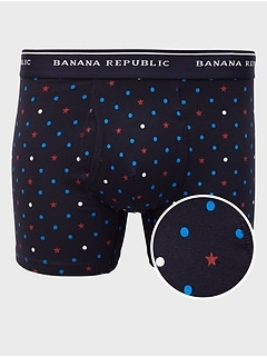 Americana Star Dot Boxer Briefs