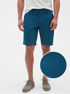 "10"" Aiden Slim-Fit Printed Dot Shorts"