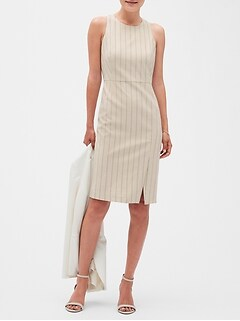 Pinstripe Sheath Dress