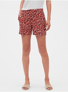 Tailored Ditsy Floral Print Shorts - 5 inch inseam
