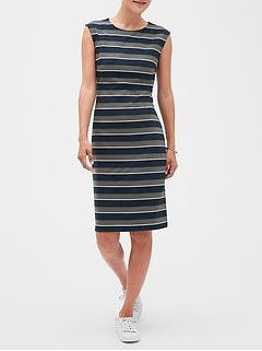 Stripe Sheath Dress