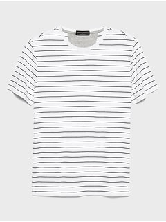 Moisture Wicking Stripe T Shirt