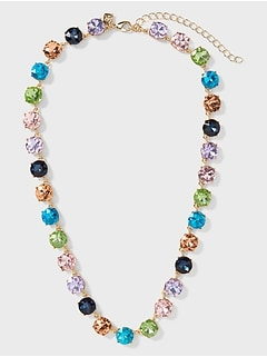 Multi-Colored Gem Necklace