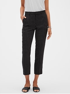 Avery Soft Print Tailored Ankle Pant