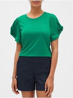 Twist Sleeve Designer T Shirt