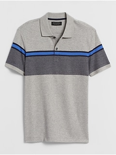 Slim-Fit Chest Stripe Dress Polo