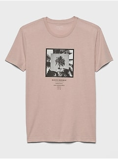 Palm Tree Banana Republic Graphic T-Shirt