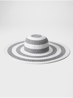 Stripe Wide Brim Hat