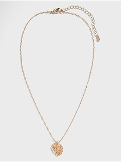 Monstera Leaf Delicate Necklace