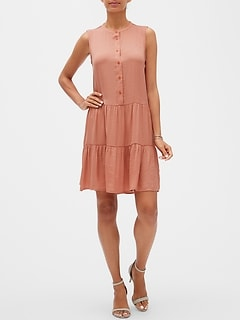 Petite Flounce Swing Shift Dress