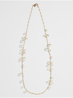 Lucite Station Necklace