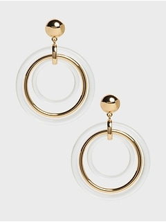 Triple Lucite Hoop Earrings