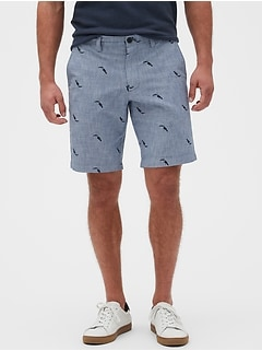 "10"" Aiden Slim-Fit Toucan Print Shorts"