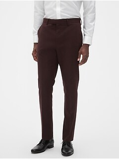 Extra Slim-Fit Burgundy Trouser