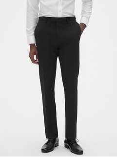 Extra Slim-Fit Black Trouser