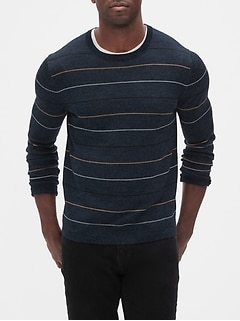 Stripe Washable Merino Wool Sweater