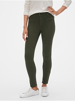 Super Stretch Green Legging Jean