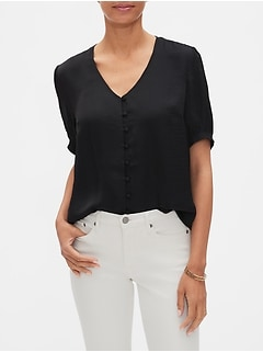 Covered Button Blouse