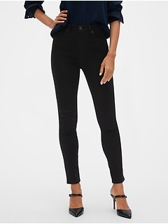 High Rise Fade Resist Black Skinny Jean