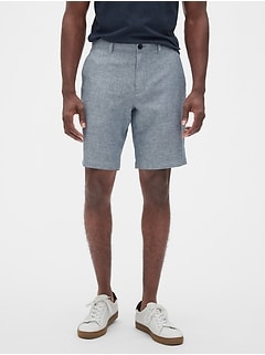 "10"" Aiden Slim-Fit Linen Blend Herringbone Shorts"