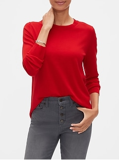 Washable Merino Wool Crew Neck Sweater