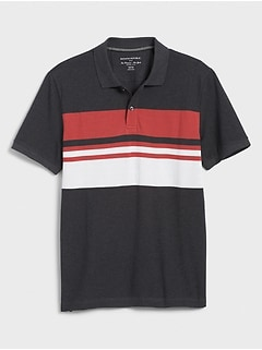 Chest Stripe Pique Polo