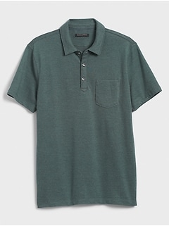 Slim-Fit Birdseye Pocket Pique Polo