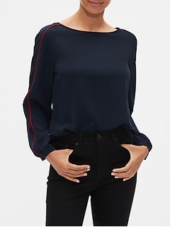 Piped Sleeve Top