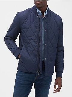 Water Resistant Quilted Baseball Jacket