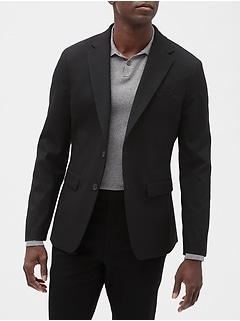 Extra Slim-Fit Stretch Black Blazer