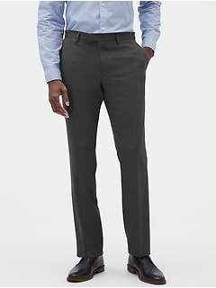 Slim-Fit Charcoal Trouser