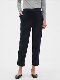 Petite Hayden Knit Pinstripe Ankle Pant