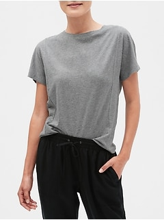 Paneled Dolman Sleeve T-Shirt