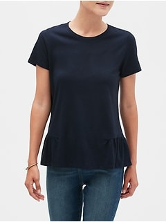 Ruffle-Side T-Shirt