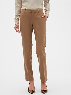 Washable Ryan Camel Slim Straight Pant
