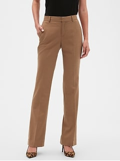 Washable Curvy Logan Camel Suit Trouser