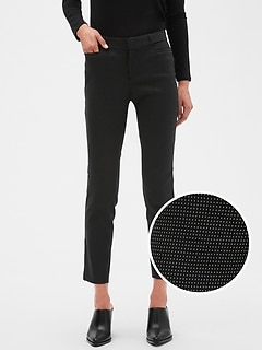 Sloan Dot Slim Ankle Pant