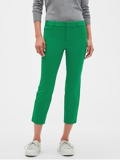 Petite Sloan Pop of Color Crop Pant