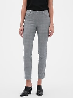 Sloan Menswear Plaid Slim Ankle Pant