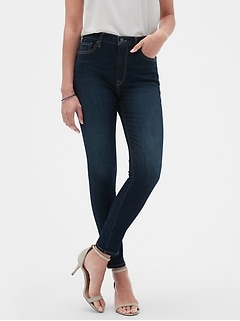 Petite High Rise Soft Touch Dark Wash Skinny Jean