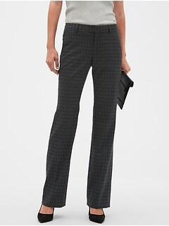 Petite Washable Logan Charcoal Windowpane Suit Trouser