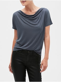 SilkyLuxe Dolman Cowl Neck Top