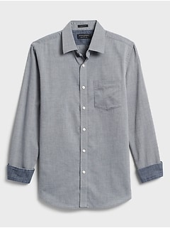 Slim-Fit Soft Wash Yarn-Dye Shirt