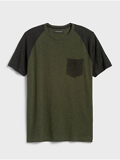 Slub Colorblock T-Shirt