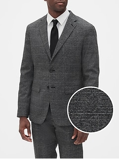 Slim-Fit Stretch Grey Glenn Blazer