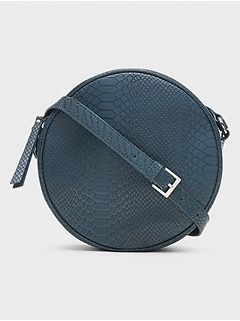 Round Crocodile Crossbody